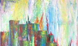 """Sommer in der Stadt >42°C"" · 2015 · Acrylic on Canvas · 39.4 x 27.6 in · Original Painting FOR SALE"